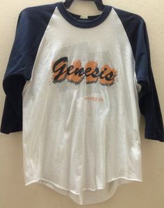 Rare Vintage Genesis 1983 Concert Tour T-Shirt by VINTAGESHIRT //  **heavy breathing** I need it