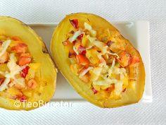 Cartofi umpluti Baked Potato, Healthy Life, Tacos, Potatoes, Mexican, Meals, Baking, Dinner, Fruit