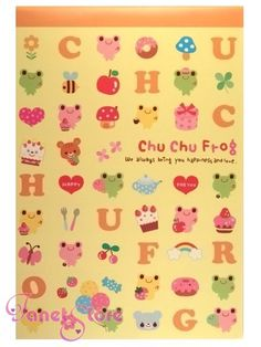 janetstore.com: kawaii stationery,letter sets, stickers, gifts and more - Chu Chu frog letter paper 32 sheets L329 4714581690456