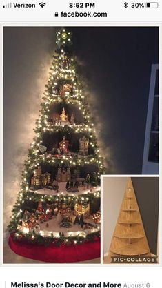 Christmas Decorations for the Garden How to Diy Christmas Tree Village Stand Free Video Tutorial S Creative Christmas Trees, Wood Christmas Tree, Noel Christmas, Christmas Projects, Holiday Crafts, Christmas Ornaments, Corner Christmas Tree, Decorated Christmas Trees, Xmas Tree