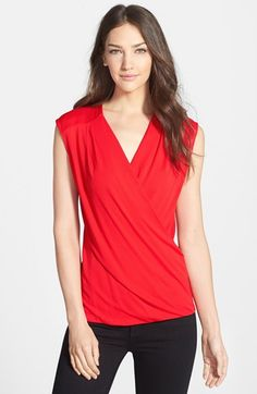 Free shipping and returns on Classiques Entier® Sleeveless Crepe Wrap Front Top at Nordstrom.com. A touch of draping softens the fit of a flattering wrap-front top cut from supple crepe in a layer-ready silhouette.