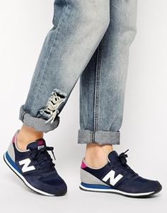 New Balance 420 Suede Mix Blue & Pink Sneakers - Blue/pink