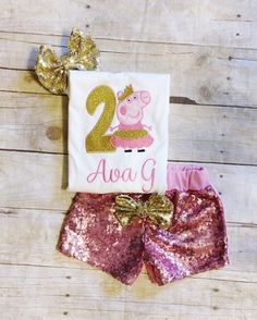Hey, I found this really awesome Etsy listing at https://www.etsy.com/listing/498995239/peppa-pig-birthday-outfit-shorts-peppa