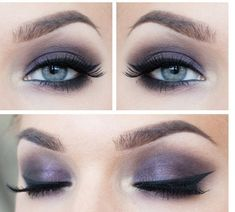 Flawless makeup for blue and gray eyes ❤️