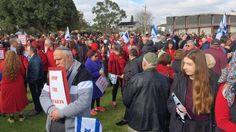 Manifestación de apoyo a Israel en Melbourne, Australia, el 20 de julio de 2014 durante la Operación Margen Protector
