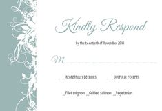 Free Rsvp Card Template Tasteful Tapestry Frame  Printable Response Card Template .