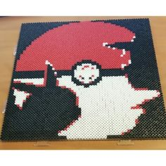 """Perler Art """"Ash and Pikachu"""" 4 hour project"""