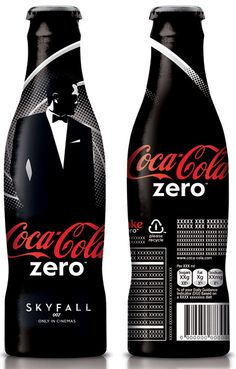 Coca-Cola just unveiled their special edition James Bond 'Skyfall' Coke Zero packaging design, available for a limited time. Coca Cola Zero, Coca Cola Can, Always Coca Cola, World Of Coca Cola, Coca Cola Bottles, Pepsi Cola, Coke Cans, Coca Cola Vintage, Sodas