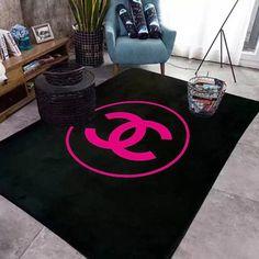 シャネルラグ カーペット 絨毯ラグマット 洗える 滑り止め付CHANELホットカーペット対応 長方形 ラグ ラグマット Chanel Bedding, Chanel Bedroom, Dog Room Design, House Design, Chanel Decor, Dog Rooms, Bathroom Rug Sets, Carpet Design, Closet Organization