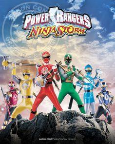 Power Rangers Ninja Storm Print