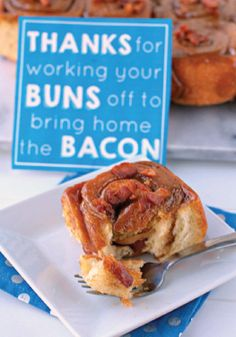 Bacon Sticky Buns – Is your dad a bacon lover? This sweet and savory breakfast recipe will be sure to be a hit in your home this Father's Day!
