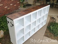 From Dumpster to Dance Studio, a Cubby Shelf Revamp - When I first spotted this cubby shelf it was a mess, so I left it sitting by the dumpster. Of course I was…