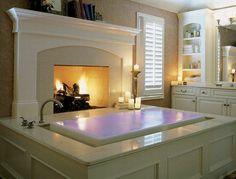 Salle de bain - Bathroom - Foyer - Fireplace