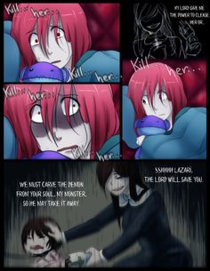 Chibi 192 I Eat Pasta for Breakfast Pg 192 by Chibi Works On Deviantart Lazari Creepypasta, Creepypasta Girls, Creepypasta Characters, Nurse Ann, Creepy Pasta Comics, Creepy Monster, Chibi Girl, Jeff The Killer, Horror Movies