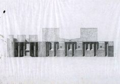 louis kahn / first unitarian church . Louis Kahn, Facade, Sketches, Tapestry, Architectural Drawings, Plans, Architecture, Thesis, Composition