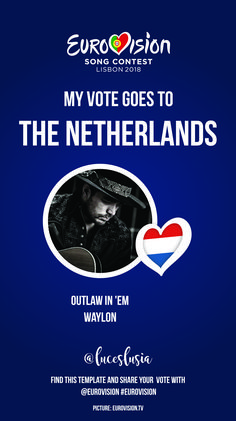 Eurovision 2018 Instagram template by @luceslusia - The Netherlands