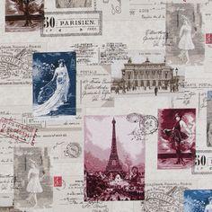 Dekorační látka žakár Paříž Grand Prix