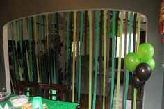 Some of the décor - we went with a green, lime green, black, and brown motif.