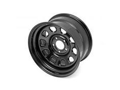 "Rugged Ridge D-Window Black Steel Wheel with 5x5 Bolt Pattern in 17x9 Size & 4.5"" Backspacing"