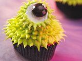 Green-Eyed Monster Cupcake (eye is a marshmallow)