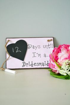 Days Until Bridesmaid Countdown