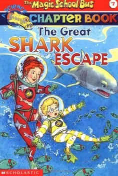 The Great Shark Escape (The Magic School Bus Chapter Book, No. 7) by Jennifer Johnston http://www.amazon.com/dp/0439204216/ref=cm_sw_r_pi_dp_G1F7tb0S42J5Y