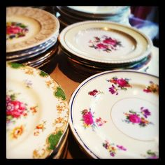 plates drying http://fancyvintagechina.blogspot.co.uk