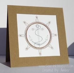 Stitched Anchor & Wheel Fathers Day Card
