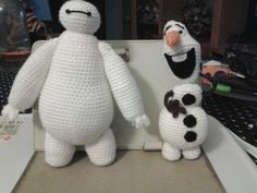DIY Baymax y Olaf amigurumi crochet