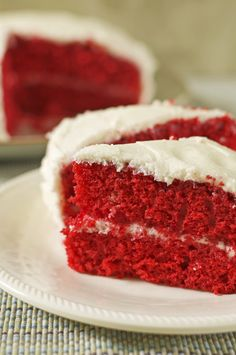 Rich, moist and fluffy Red Velvet Cake Gluten Free Dairy Free /LetsBeYummy.com