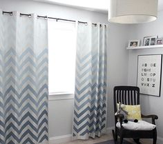 Diy Painted Ombré Chevron Curtains Modern Nursery Trend Watch Disney Baby Ombre