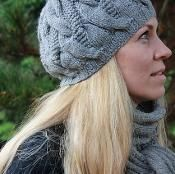 Hat & Scarf with cables - free via @Craftsy