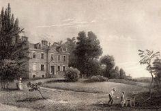 Original 1844 Engraving of The Battle Ground at Germantown Philadelphia Scarce