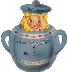 I used to collect sugar bowls/creamers  This little girl must be from the campbells soup ads.