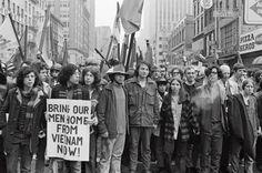 NYC.  Anti-Vietnam War demonstration, 4/4/1970.