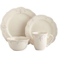 Dinner plate: $9, Salad plate: $8, Bowl: $8, Mug: $7 Abigail Dinnerware