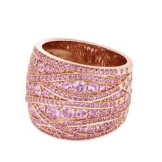 Rose gold and pink sapphire ring