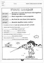Resultado de imagem para atividades de portugues do 4º ano