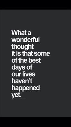 What a wonderful thought.