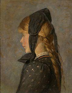 fleurdulys: Portrait of a Blonde Girl - Gustav Gaupp 1915