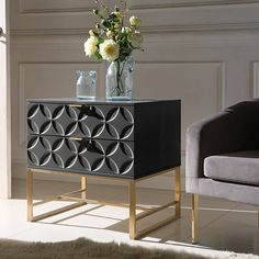 Black Side Table, Sofa End Tables, Side Tables, Contemporary Interior, Contemporary Style, Look Fashion, Bed Frame, Decoration, Home Furniture