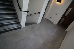 #Renovation to #terrazzo #flooring in commercial #stairwell