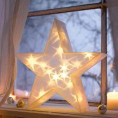 """Weihnachtsbeleuchtung """"3D-Stern"""" bei Gingar.de"""