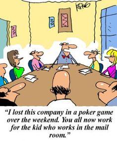 #boss can't play #poker....