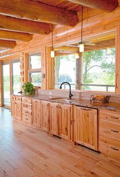 kitchen ideas I love the large windows
