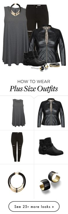 """""""Curvy Woman - Plus Size"""" by ginothersyde on Polyvore featuring Avenue, Topshop, Stella & Dot and 351"""