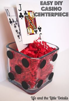 Easy DIY Casino Centerpiece for a Poker Party - Life and the Little Details