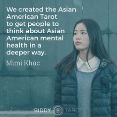 """""""We created the Asian American Tarot to get people to think about Asian American mental health in a deeper way."""" - Mimi Khúc, guest editor of the Asian-American Tarot deck on BTP66. Click the link in bio to tune in."""