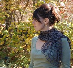 Crocheted Mesh Scarf - Spring and Summer Scarves to Crochet!