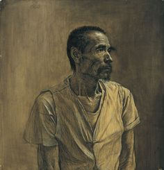 "Liu Xiaodong, ""Portrait of an Old Man"""
